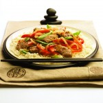 asian pork and vegetable stir fry entree recipe