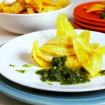 Plantain Chips with Chimichurri